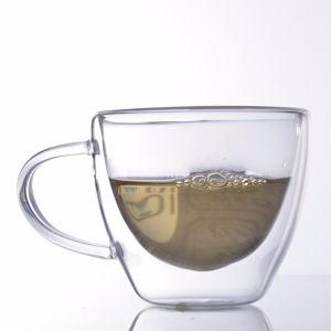 Tazze di tè saltate mano di vetro del Borosilicate della tazza della tazza di caffè