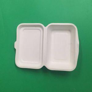 Gesundheitliches biodegradierbares Zuckerrohr-Bagasse-Papier-Weiß-Tafelgeschirr
