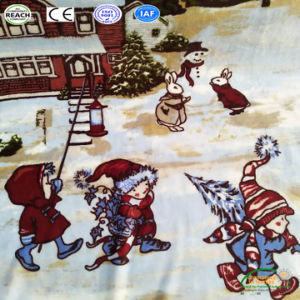 子供の柔らかいベッドまたはソファーまたは平面または旅行冬のベッドの投球のクリスマス毛布