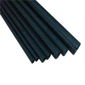 3k Caron tubo envolto de fibra