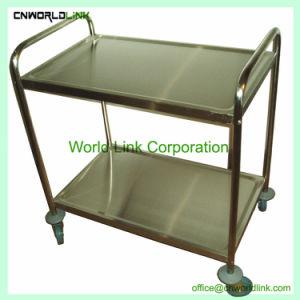 Venta caliente de acero inoxidable mesas de cocina con estante de arriba