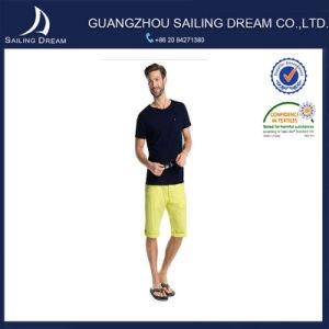 Pantaloni diritti del cotone dello Spandex di misura sottile di svago degli uomini