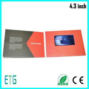 Opuscolo dell'affissione a cristalli liquidi di alta qualità video per 4.3 pollici
