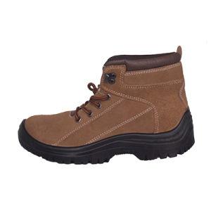 La parte inferior de acero marrón Puntera de zapatos de seguridad