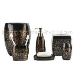 Accessorio di lusso della stanza da bagno della vernice della mano di Polyresin per gli articoli di Saundry della stanza da bagno