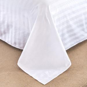 Il colore rosa del raso del cotone dell'hotel 40s ha tinto gli insiemi del lenzuolo della banda in azione (JRD183)