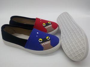 Diseño de la última inyección de mujer zapatos de ocio Zapatos de lona (FZL7802-27)
