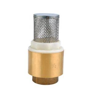 La fábrica de la válvula de retención de la primavera de latón con filtro