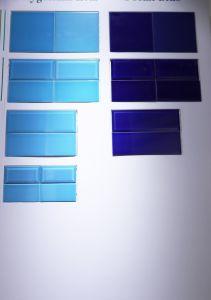 Donkerblauwe Verglaasde 4X12inch/10X30cm polijsten de Italiaanse Tegel van het Roestvrij staal van de Tegel van het Porselein