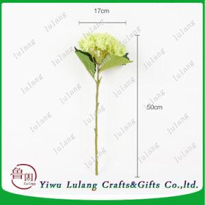18 卸し売り絹のアジサイの花の人工絹の茎の花