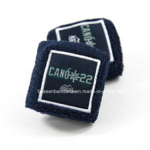 工場OEMの農産物によってカスタマイズされる刺繍の黒テリーはSweatbandを遊ばす