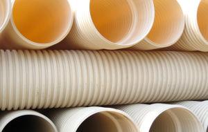 Venta caliente de drenaje de plástico ondulado de doble pared del tubo de PVC-U