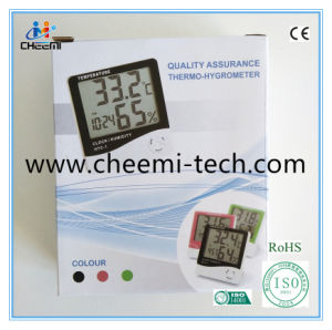 HTC-1携帯用LCDのクロックデジタルC/F温度計の湿度計