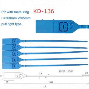 Sangle en plastique utilisés à usage unique de Verrouillage de chaîne avec des nombres (DK-136)
