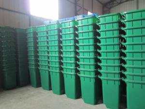 Для использования вне помещений колесных пластиковые мусорные корзины в мусорное ведро для использования на улице