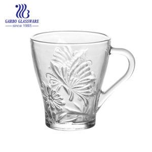 9 унций Hotsell цветочным вкусом стекло чай кружка с ручкой (ГБ) SYC092308