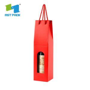 주문 로고에 의하여 인쇄되는 선물 마분지 Winebox