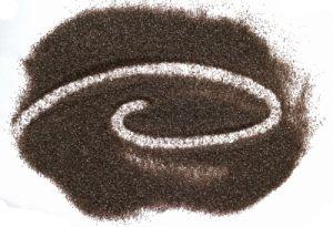 Marron/noir/ corindon blanc sable pour abrasifs et réfractaires