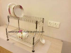 Alambre de hierro cromado bricolaje cocina plato único rack