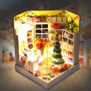 Melhores brinquedos para 2017 presente de Natal DIY boneca de madeira artesanais House como dom