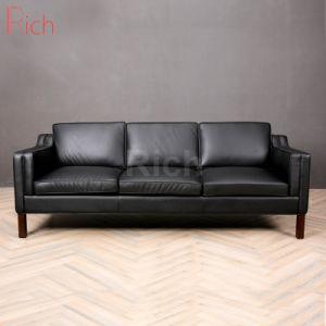 Sofá de couro moderno mobiliário residencial sala escura