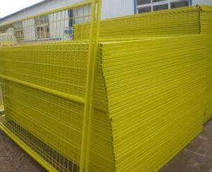 6ftx9.5FTカナダの粉の上塗を施してある建築現場の一時囲うパネル