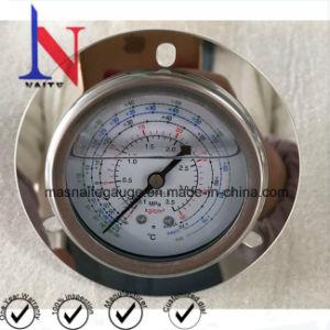 Tipo de ponteiro preço de fábrica de Escala Dupla Medidor de Pressão do Coletor de fluido criogénico