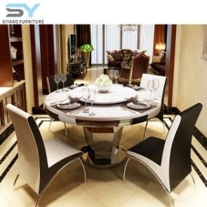 Sala Escura mesa de jantar conjunto mesa de jantar redonda de vidro
