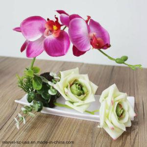 ホーム装飾の人工的な蝶蘭のローズの人工花の偽造品の花