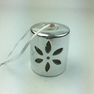De levering voor doorverkoop stak Zilveren Ceramische Hangende Ornamenten aan