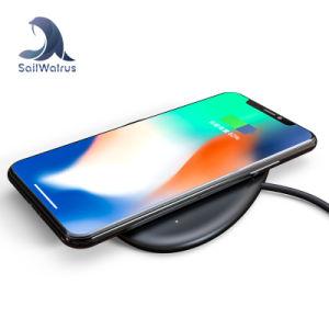 Mejor Regalo de Navidad Novedades la carga rápida Qi cargador inalámbrico Pad para Samsung Smart Phone