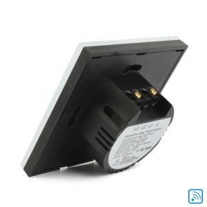 Estándar de la UE pista compatible WiFi 1Alexa Automatización Interruptor de pared táctil