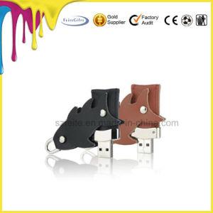 Customed Keychainの革USBのペン駆動機構の革USBのフラッシュ駆動機構