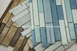 Tuiles de mosaïque en verre de salle de bains