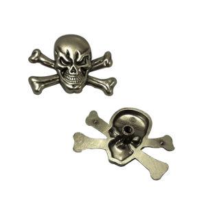 Vestiti o Handbag Accessories Zinc Alloy Skull Head Customized Skull Head