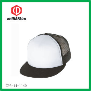 White Blank Mesh Snapback Caps (CPA-14-1140)