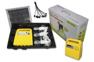 移動式充電器が付いている太陽エネルギーシステム格子キットPVの太陽エネルギーの供給の発電機か太陽エネルギーシステムをつける5W再充電可能なLED
