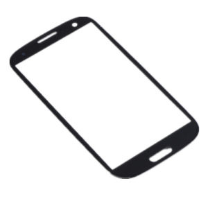Frente de vidrio blanco azul de reemplazo para el Samsung S3