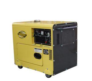 5kVA gerador diesel tipo silenciosa portátil (5kVA/6500T)