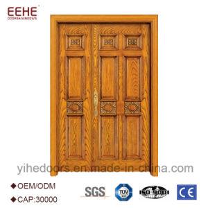 Portello di legno solido di alta qualità doppio