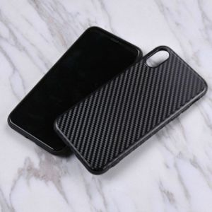 Texture en fibre de carbone Qualifiied couvercle TPU souple pour iPhone x