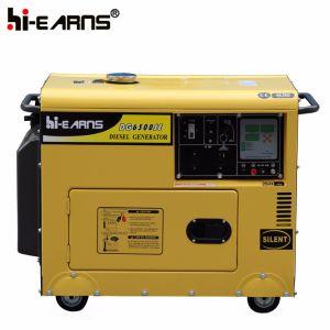3.2Kw silencio grupo electrógeno diesel con motor Diesel de 4 tiempos (DG4500SE).