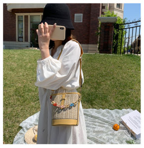 Fardos de palha Saco da caçamba da cadeia hoteleira a mala com um ombro inclinado em favor das mulheres