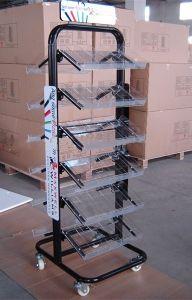 Exibição de publicidade destacável suporte de monitor de rack de fio metálico