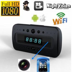 T10 1080P volles HD Nachtsicht Schwarzes versteckte WiFi IP-Wand-Schreibtisch-Taktgeber-Kamera