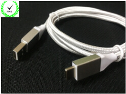 Digitare il cavo di dati di carico tessuto della lega di alluminio dell'edizione C2.0