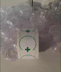 プラスチック装飾的な包装のクリーム色の瓶
