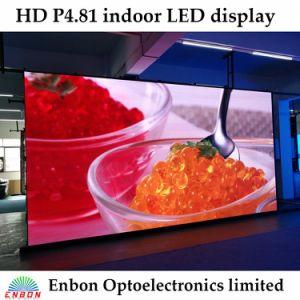 Manutenção frontal P4.81 Tela LED interior com arco ajustável