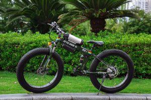 26 pouces de neige de la plage de matières grasses pneu pliable vélo électrique avec double absorption des chocs