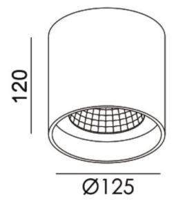Чистого алюминия 15W 20Вт Светодиодные потолочные лампы C6045